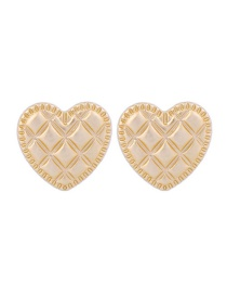 Fashion Gold Heart Shaped S925 Sterling Silver Pearl Earrings