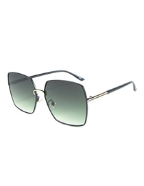 Fashion Green Film Square Sunglasses
