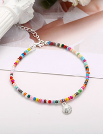 Fashion Silver Beaded Alloy Scallop Anklet