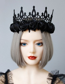 Fashion Black Flower Crown