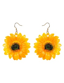 Fashion Sunflower Resin Sunflower Earrings