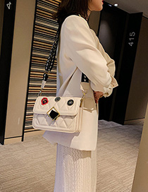 White Lingge Crossbody Shoulder Bag