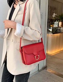 Red Shoulder Messenger Bag