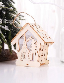 Fashion Log Color Chapel Assembly Illuminated Wooden House: Old Man: Christmas Tree Ornaments