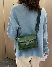 Green Wide Shoulder Strap Shoulder Messenger Bag