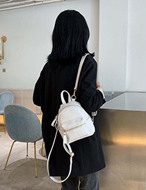 White Stone Pattern Backpack