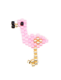 Fashion Pink Flamingo Rice Beads Weaving Accessories