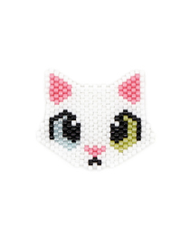 Fashion White Kitty Rice Beads Weaving Accessories