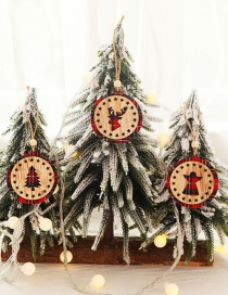 Fashion Round A Series Set Of 3 Wooden Angel Round Pentacle Christmas Tree Hollow Pendant