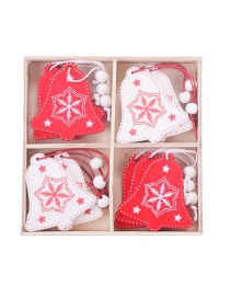 Fashion Christmas Bells In A Box Of 12 Painted Christmas Pendant