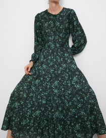 Fashion Green Printed Dress