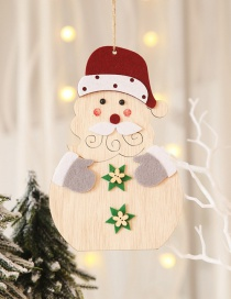 Fashion Elderly Pendant Wooden Christmas Pendant