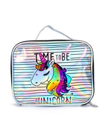 Fashion Big Horse Head Unicorn Laser Cosmetic Bag