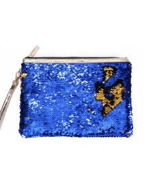 Fashion Blue Mermaid Sequin Bag