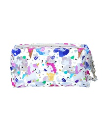 Fashion Multiple Unicorns Cartoon Printed Transparent Unicorn Pencil Case