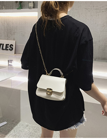 Fashion Creamy-white Chain Shoulder Messenger Bag