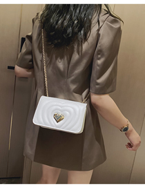 Fashion White Chain Messenger Bag