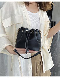 Fashion Black Chain Crossbody Shoulder Bag