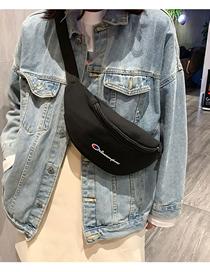Fashion Black Printed Crossbody Chest Bag