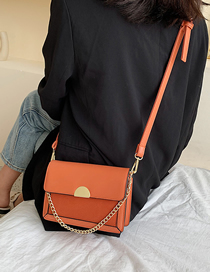 Fashion Orange Chain Crossbody Shoulder Bag