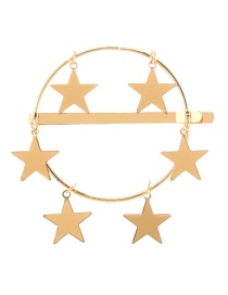 Fashion Gold Alloy Five-pointed Star Hairpin