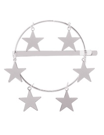 Fashion Silver Alloy Five-pointed Star Hairpin