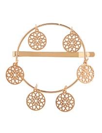 Fashion Gold Geometric Alloy Hollow Dream Catcher Hairpin