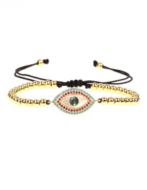 Fashion Gold Full-diamonded Eye Color Shell Zircon Bracelet