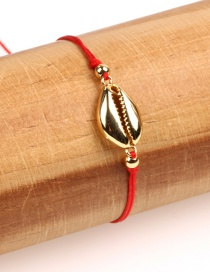 Fashion Gold Copper Plated Gold Shell Woven Bracelet