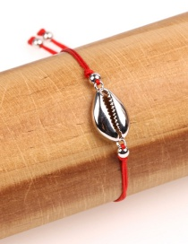 Fashion Silver Copper Plated Gold Shell Woven Bracelet