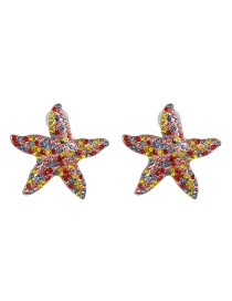 Fashion Color Color Starfish Pearl Stud Earrings