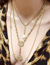Fashion Gold Alloy Multi-layer Necklace