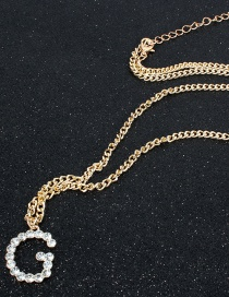Fashion Gold Digital Letter Lock Necklace