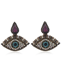 Fashion Black Eye Drop Diamond Earrings