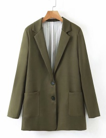 Fashion Green Lapel Single-breasted Small Suit