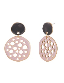 Fashion Pink Paint Hollow Earrings