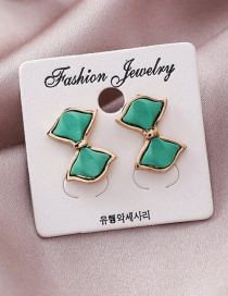 Fashion Green Bow Earrings