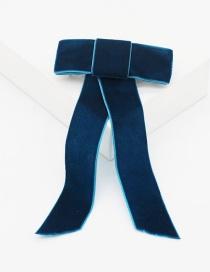 Fashion Black Bow Fringed Pearl-studded Geometric Hair Band