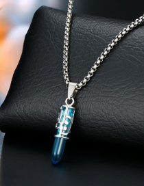 Fashion Blue Motorcycle Horn Necklace
