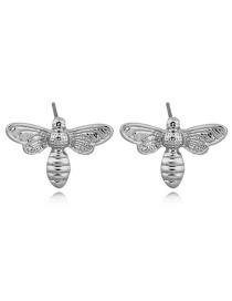 Fashion Silver Little Bee Earring