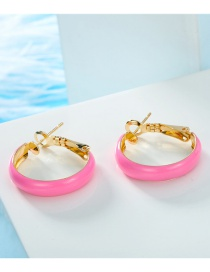 Fashion Pink Round Hoop Earrings