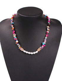 Fashion Colored Natural Stone Alloy Natural Stone Pearl Necklace