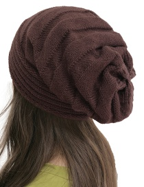 Fashion Coffee Twill Pleated Cap