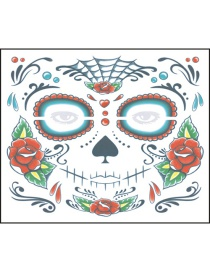 Fashion Color Halloween Face Stickers Waterproof And Environmentally Friendly Tattoo Stickers