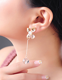 Fashion Gold Drop Oil Flower 925 Sterling Silver Pearl Earrings
