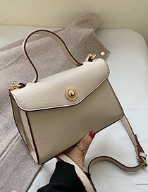 Fashion Creamy-white Locked Shoulder Bag Shoulder Bag
