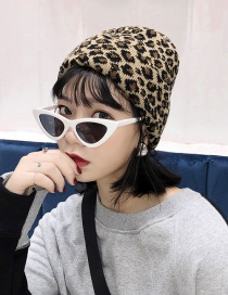Fashion Leopard Camel Wool Cap