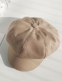Fashion Twill Cotton Octagonal Khaki Berets