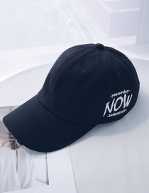 Fashion Now Black Printed Letter Baseball Cap