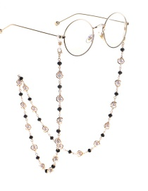Fashion Gold Pearl Crystal Non-slip Glasses Chain